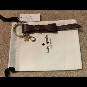 kate spade Accessories - NWT Authentic Kate Spade Plum Ribbon Keychain